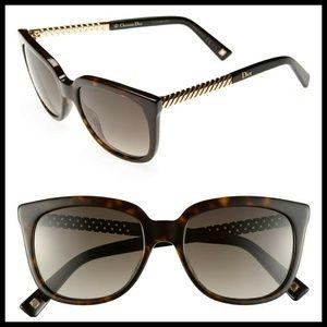 EUC Dior Ever 2 lattice design brown sunglasses